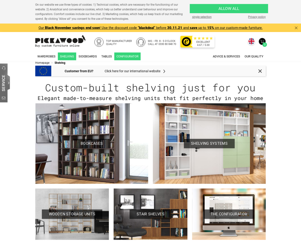 Shelving Units Made To Order Perfect Storage Units From Pickawood