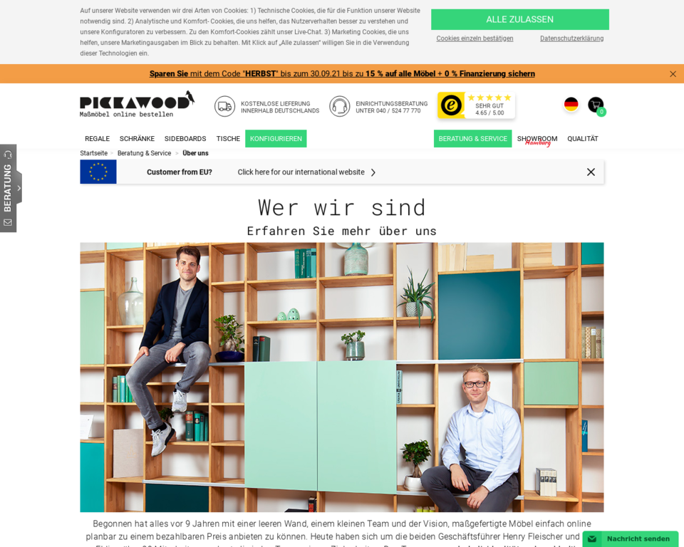 ber pickawood m bel regale und tische nach ma. Black Bedroom Furniture Sets. Home Design Ideas