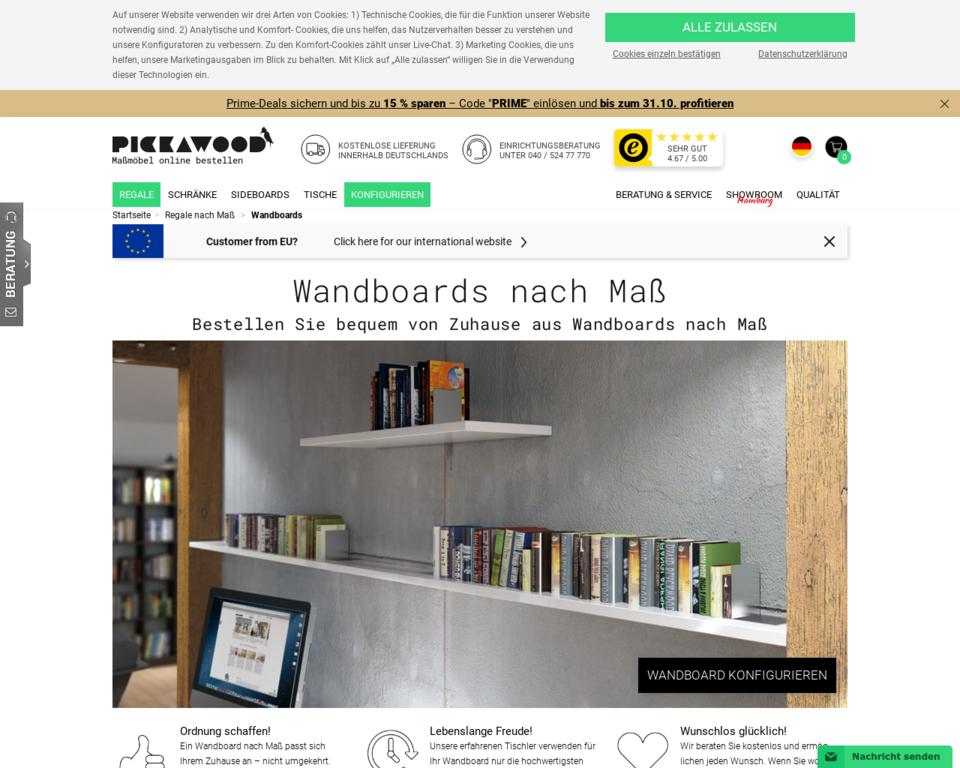 Wandboards In Allen Grossen Und Farben Online Bei Pickawood Nach Mass
