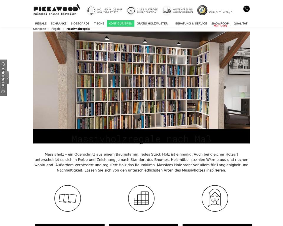 massivholz regale nach ma massivholz multiplex oder mdf. Black Bedroom Furniture Sets. Home Design Ideas