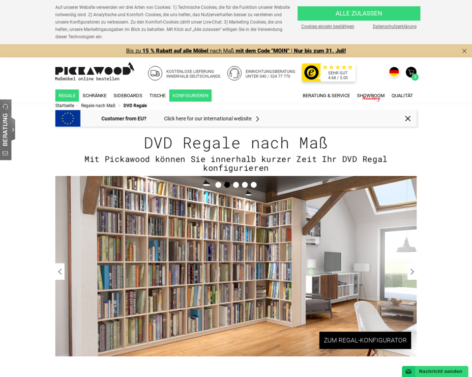 dvd regale nach ma massivholz oder mdf qualit t und g nstiger preis. Black Bedroom Furniture Sets. Home Design Ideas