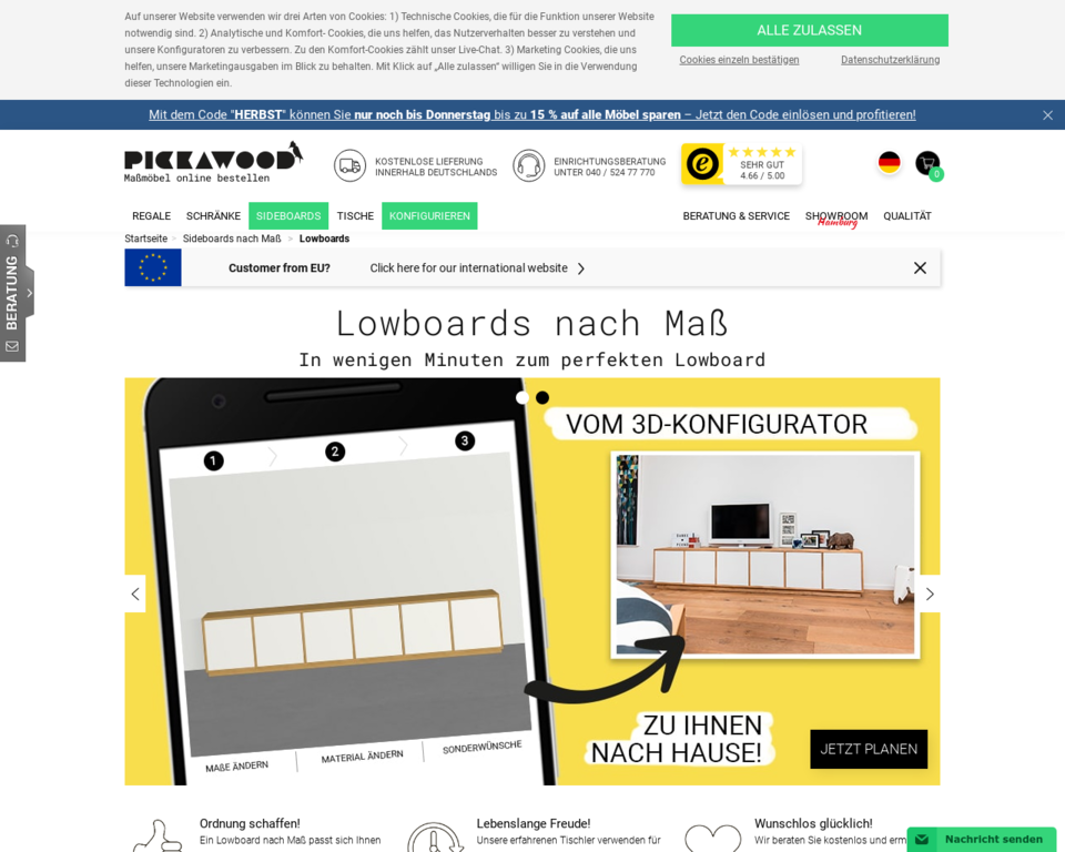lowboards nach ma lowboard konfigurieren und gestalten. Black Bedroom Furniture Sets. Home Design Ideas