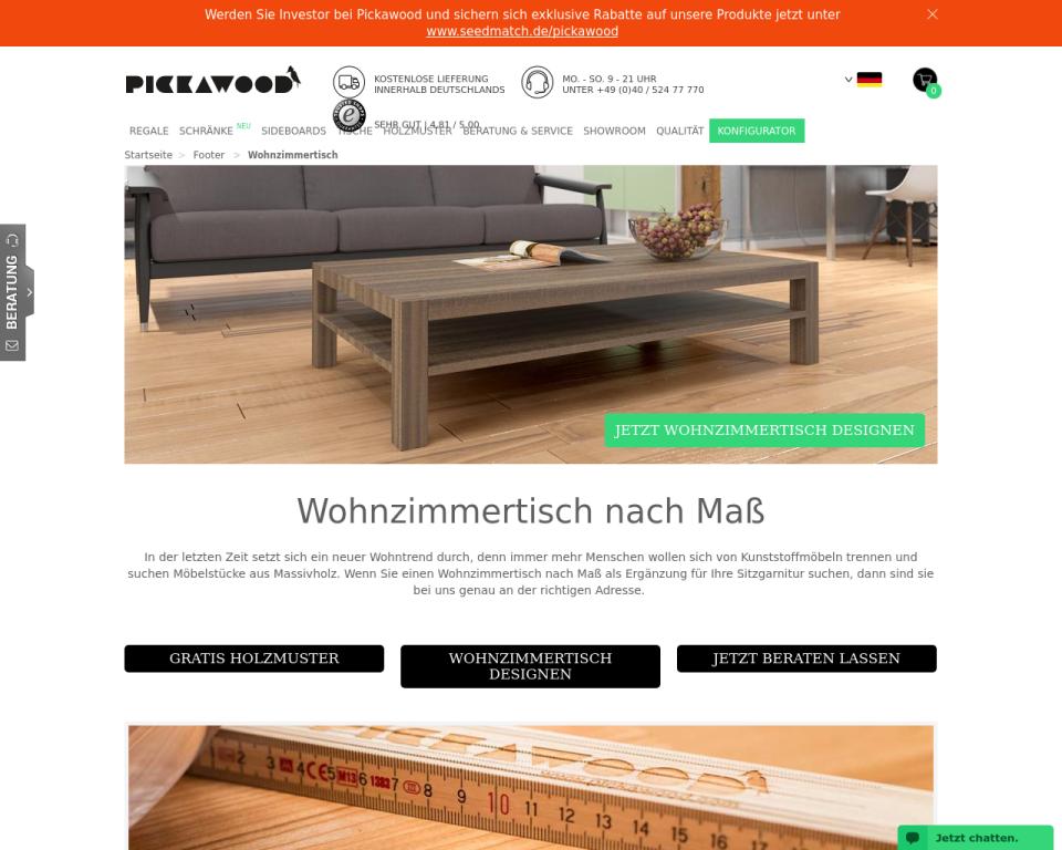 wohnzimmertisch aus massivholz online g nstig bestellen. Black Bedroom Furniture Sets. Home Design Ideas