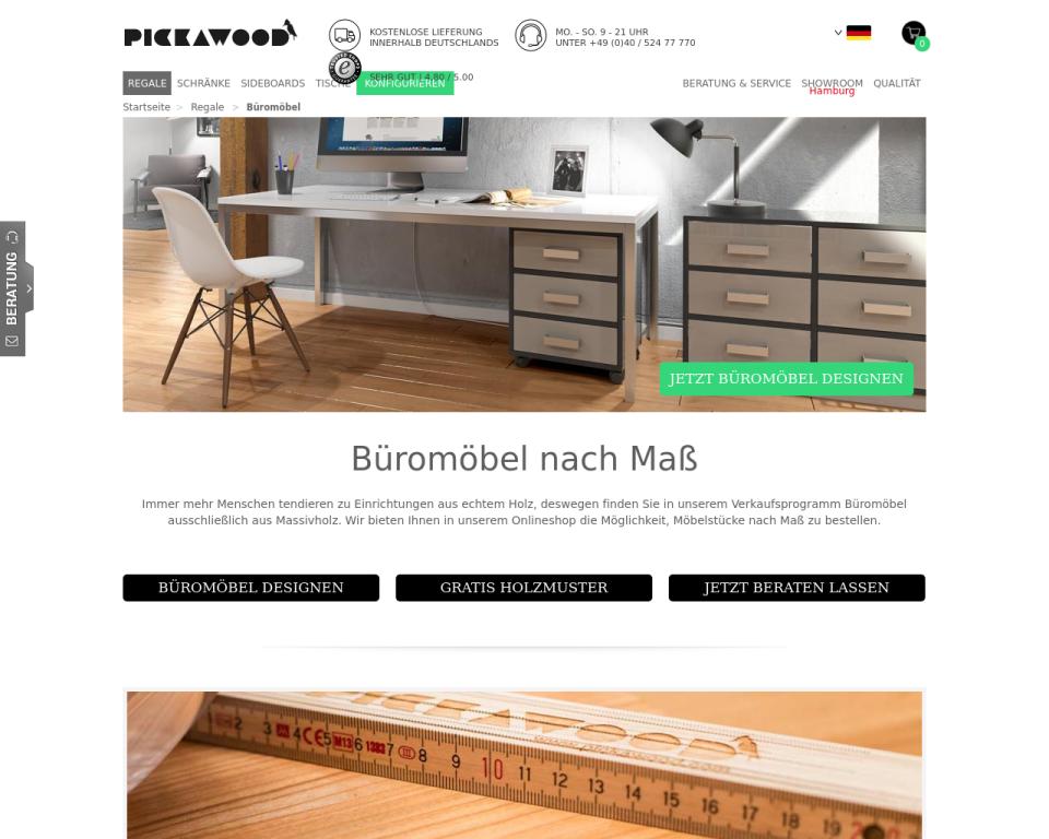 aa2bea76837b84 Büromöbel Aus Massivholz Online Günstig Bestellen Pickawoodcom