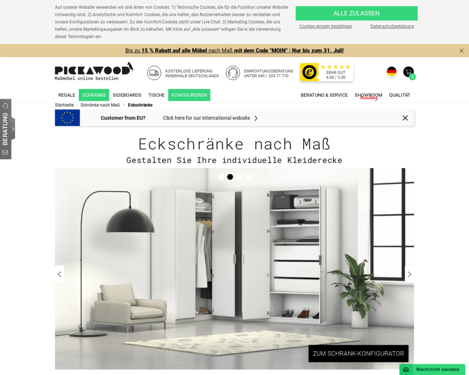 eckschraenke nach ma auf den zentimeter genau. Black Bedroom Furniture Sets. Home Design Ideas