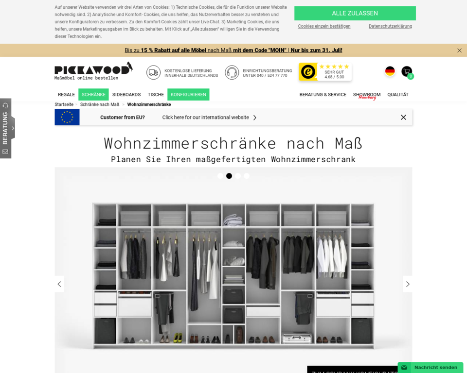 Wohnzimmerschrank Nach Mass Online Planen Und Gestalten