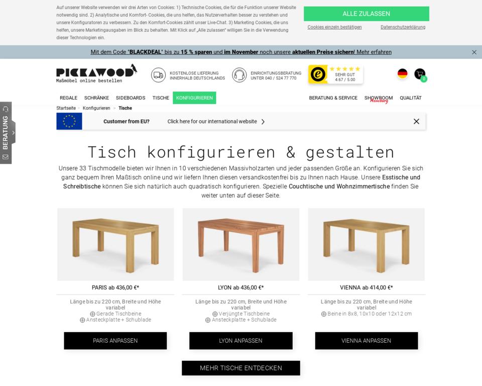 tisch konfigurator tische nach ma online planen. Black Bedroom Furniture Sets. Home Design Ideas